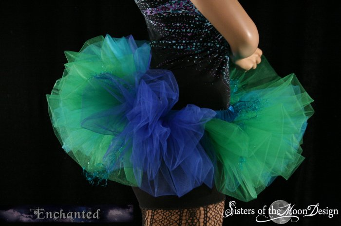 Mermaid Bubble tutu skirt Adult  Small