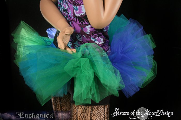 Mermaid Bubble tutu skirt Adult  XLarge-Plus