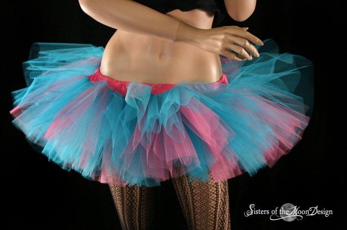 Cotton Candy Peek a boo mini tutu skirt Adult XLarge-Plus