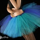 Mermaid blue, turquoise, teal and green Monster dance tutu Adult petticoat XLarge-Plus