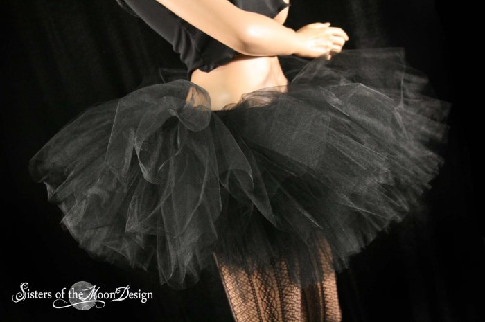 Ultimate Midnight black extra extra poofy tutu skirt Adult petticoat XXLarge-Plus