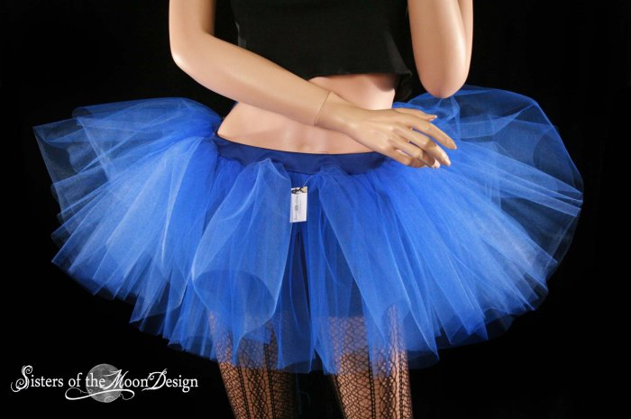 Royal Blue extra poofy adult tutu petticoat Small