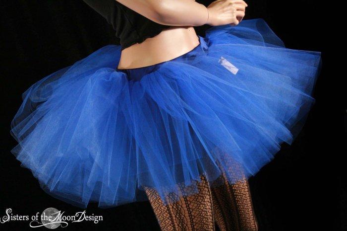 Royal Blue extra poofy adult tutu petticoat Large