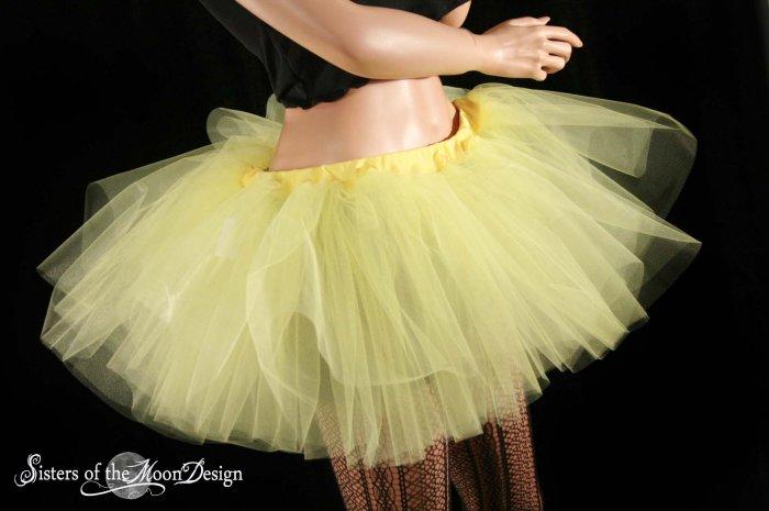 sunshine yellow extra poofy adult tutu petticoat Large
