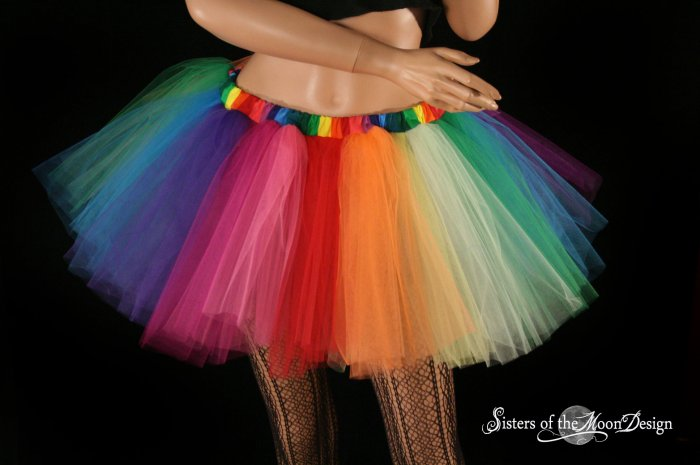 Over the Rainbow adult dance tutu XLarge Plus