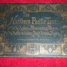 W.G. Riley The Northern Pacific Tour View Book Late 1800s RR Green Cover Gilt Embossing