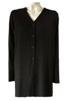 Jessica Holbrook Stretch Knit Solid Topper Jacket Medium