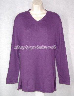Jessica Holbrook Luxury Blend V-neck Tunic Sweater Small
