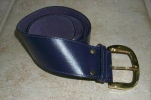 Women's Leather Belt Purple size small