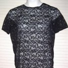 Victoria's Secret Lace Shell Top Black size Medium
