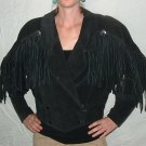 Laurice Fringed Suede Leather Motorcycle Jacket