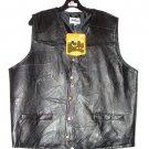 Ashburn Leather Biker Vest