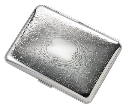 Brand new Silver Floral Pattern Metal Wallet