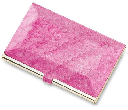 Brand New Pink Marbelized Business & Credit Card Case
