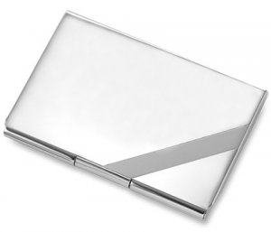 Silver Stripe Business and Credit Card Case Holder BRAND NEW