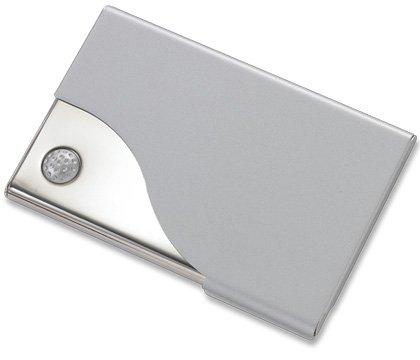 Silver BUsiness ID Credit Card Case Holder Golf Design BRAND NEW