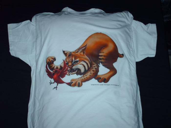 Wildcat chases Cardinal - Mens X-Large