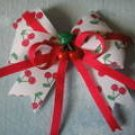 Red Cherry Pie Boutique Girls Hairbow