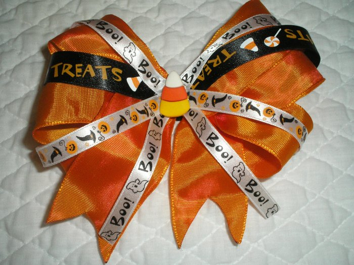 Halloween girls boutique Hairbow hair bow
