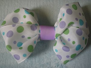 dainty polkadot girls boutique hairbow