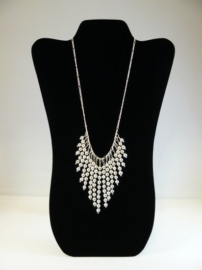 Dramatic Silver Necklace
