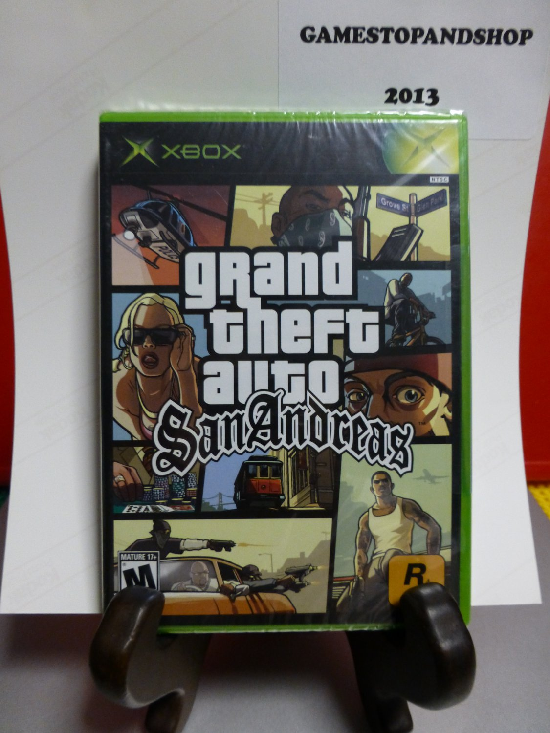Microsoft Xbox Grand Theft Auto San Andreas (NEW) Rated M (FREE S&H)