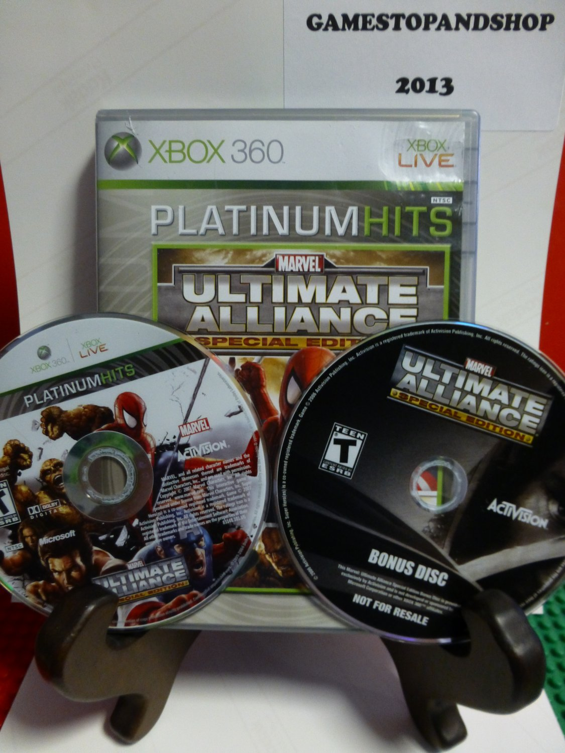 Xbox 360 Marvel Ultimate Alliance (Special Edition) with Bonus DVD (Gold) MINT