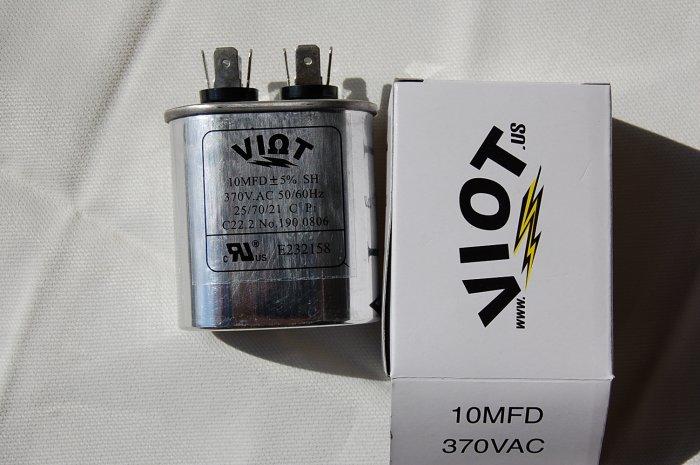 Cap 10 uFD Compressor Furnace Blower Fan Motor Start Run Capacitor Oval 370V UL Listed