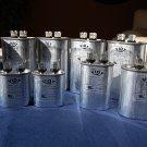Lot:10-in-a-set Capacitors 5 to 50 uFD Oval 370V Compressor Furnace Blower Fan Motor Start Run HVAC