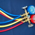 R22 R134a R12 R404a Manifold Gauge+Hose Set HVAC Charging Diagnosis Recovery Tool Brand New