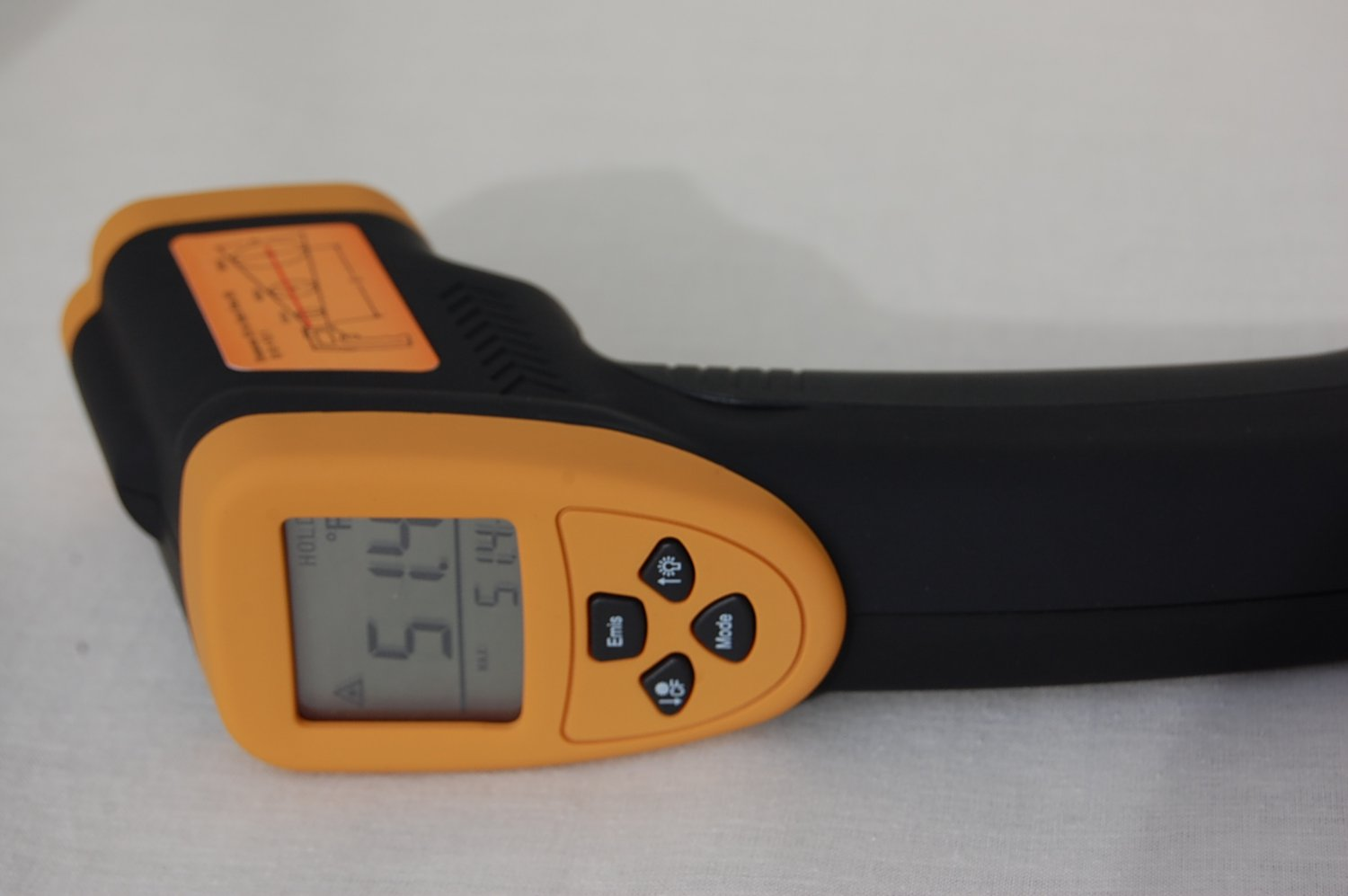 InfraRed Digital Thermometer Non-Contact Accurate 12:1(D:S) -50 to 1100 F HVAC Tool