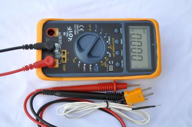 AC/DC Ammeter Ohm Volt Multimeter DMM+Capacitor Tester+Type K Thermocouple HVAC