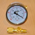 "T-Adapter:1/4X1/8X1/4""NPT/Flair+Deep Vacuum Gauge Pump Add to Port/Manifold HVAC"