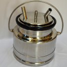 Goat Milker Bucket+Lid Liner:5L SS Jar Jug Milk Tank Heavy Duty Rubber Small Farm