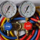 Manifold Gauge Set+5ft Hoses for R410a R22 R404a R134a HVAC Charge Diagnose Tool