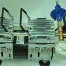 Controlled Twin Piston 5.5CFM Oil-less Vacuum Pump w/Regulator Gauge Kit Milker Machine Pulsator