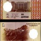 Tajikistan banknote 1999 1 diram UNC