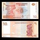 Congo banknote 2003 10 francs UNC