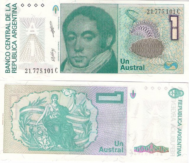 Argentina banknote ND 1 austral UNC