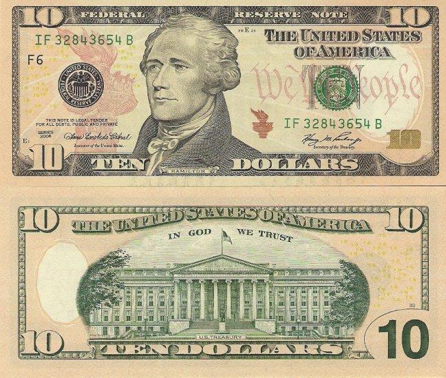 USA banknotes 2006 10 dollars aUNC