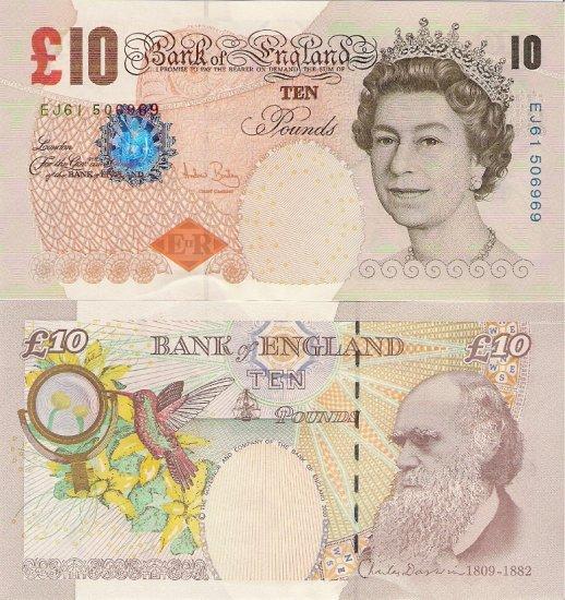 Great Britain banknotes 2000 10 pounds aUNC