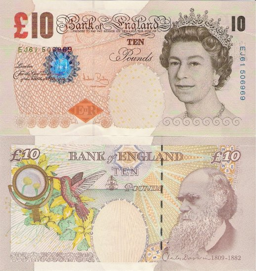 Great Britain banknotes 2000 10 pounds aUNC [CONSECUTIVE PAIR]