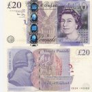 Great Britain banknotes 2006 20 pounds aUNC [CONSECUTIVE PAIR]
