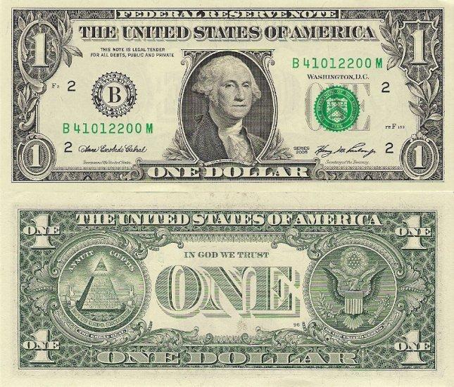 USA banknotes 2006 1 dollar UNC [consecutive pair]