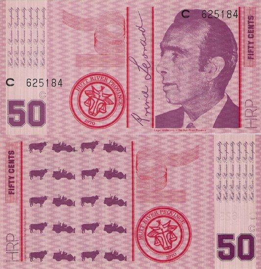 Hutt River Province near Western Australia banknote (1970) 50 cents UNC
