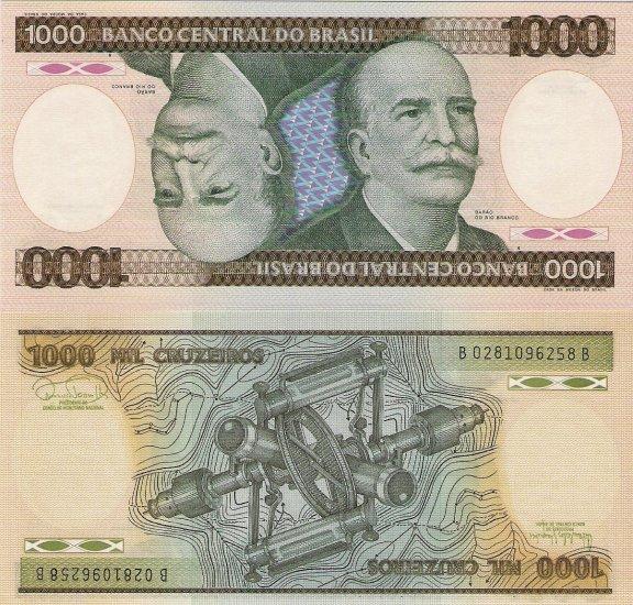 Brazil banknote 1981-85 1000 cruzeiros UNC
