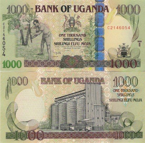 Uganda banknote 2009 1000 shillings UNC