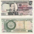 Mozambique banknote 1970 50 escudos UNC OVPT