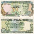 Zambia banknote 1989-91 20 kwacha UNC
