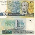 Brazil banknote 1988 100 cruzados UNC